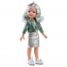 Bábika Manica v strieborných šatách 32cm