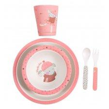 Detský jedálenský set ružový