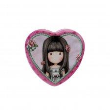 Gorjuss krabička srdce Rosebud
