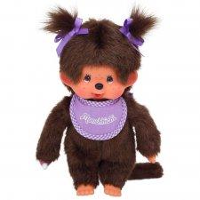 Mončiči dievča s fialovým podbradníkom 20cm