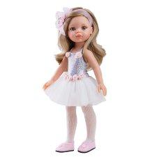 Bábika Carol balerína biela 32cm