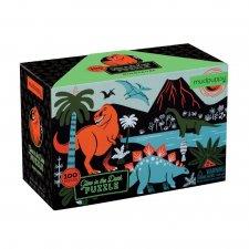Puzzle svietiace v tme Dinosaurus