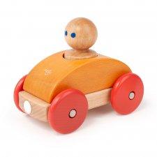 Magnetická hračka autíčko Pretekár oranžové
