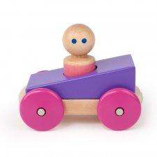Magnetická hračka autíčko Pretekár fialové
