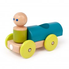 Magnetická hračka autíčko Pretekár tyrkysové