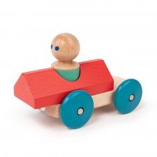 Magnetická hračka autíčko Pretekár červené