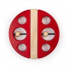 Magnetická hračka Chrobák červená