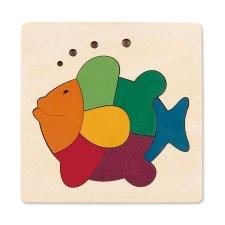 Vkladacie puzzle Dúhová rybka