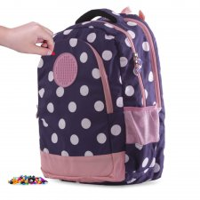 Batoh s guličkami modro-ružový 26 l