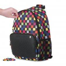 Batoh kockovaný multicolor/čierna 17 l