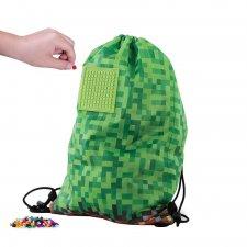 Batoh so sťahovacou šnúrkou Mine&Craft zelený 15 l