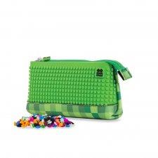 Puzdro kockované zelené