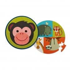 Puzzle obojstranné Opica a jej priatelia 24ks