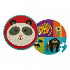 Puzzle obojstranné Panda a jej priatelia 24ks