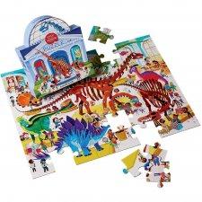 Puzzle Deň v múzeu/Dinosaury 48ks