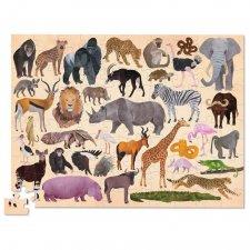 Puzzle 36 divokých zvierat 100ks