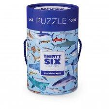 Puzzle 36 žralokov 100ks