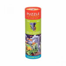 Puzzle s plagátom Safari v tube 100ks