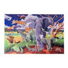Puzzle s plagátom Safari v tube 100ks