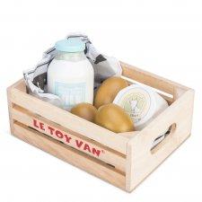 Drevená debnička Vajcia a mliečne produkty