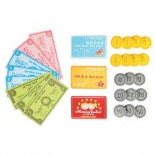 Set peniaze a platobné karty na hranie