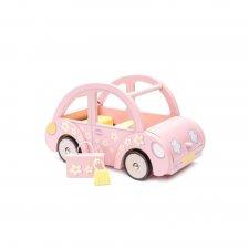 Drevené autíčko Sophie ružové