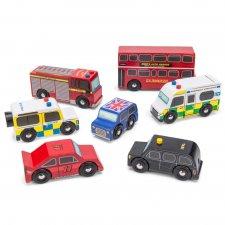 Set autíčok Londýn