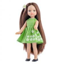 Bábika Estela v zelených šatách 21cm