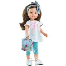 Bábika Carol s čelenkou 32cm
