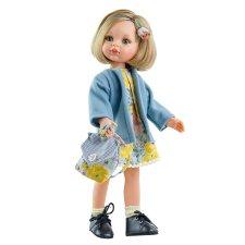 Bábika Carla v kvetovaných šatách 32cm