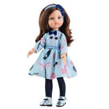 Bábika Carol v modrých šatách 32cm
