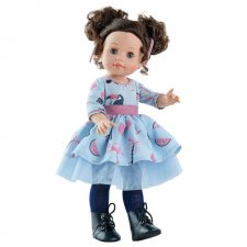 Bábika Emily v modrých šatách 42cm