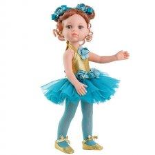 Bábika Carol balerína tyrkysová 32cm