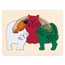 Viacvrstvové puzzle Mačky