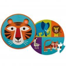 Puzzle obojstranné Tiger a jeho priatelia 24ks