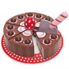 Drevená Čokoládová torta