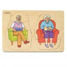 Puzzle 5 vrstvové Babka a Dedko