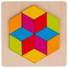 Puzzle šesťuholník
