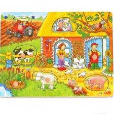 Vkladacie puzzle farma