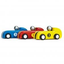 Set 3 pretekárskych autíčok