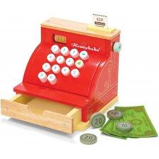 Registračná pokladňa s peniazmi