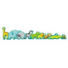 Drevené puzzle Zvieratká a abeceda