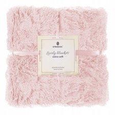 SPRINGOS Obojstranná vlnená deka 220x240cm - ružová