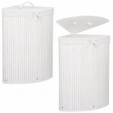 Bambusový kôš na pranie - 73L - biely