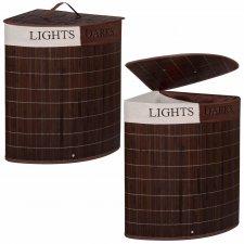 Bambusový kôš na pranie - 73L - tmavohnedý