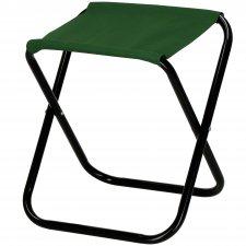 Turistická kempingová stolička skladacia - tmavozelená