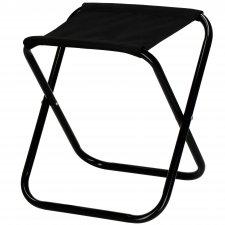Turistická kempingová stolička skladacia - čierna