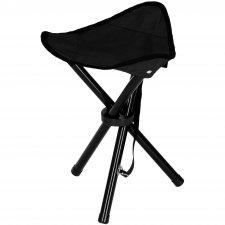 Turistická kempingová stolička skladacia trojuholník - čierna