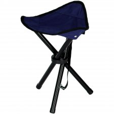 Turistická kempingová stolička skladacia - tmavomodrá