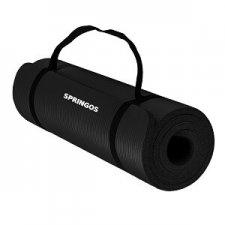 SPRINGOS Podložka na cvičenie 180x60x1cm - čierna